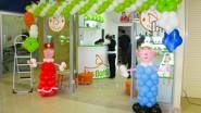 Оформление шарами детского магазина к открытию