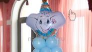 Детская фигурка из шаров, высота-1.5м: 790р