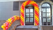 Гирлянда из шаров плетеная на улице, цена: 330 руб/м