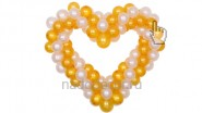 Сердце из шариков «Эконом»: 1090руб. Ширина -1,1 м.