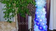 Новогоднее оформление офиса шарами