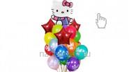 Букет из воздушных шаров «Хеллоу Китти», высота-1.7м: 2225р