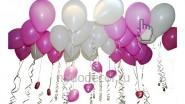 Гелиевые шары под потолок «Нежные чувства»: 650 руб за 10 шт