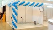 Украшение шарами выставочного стенда