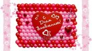 Панно из воздушных шаров «Валентинов День»: Ш-1.6м, 6990 р.