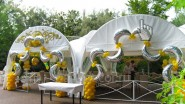 Оформление летнего шатра - Арки из полумесяцев