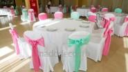 Украшение тканью столов на свадьбу
