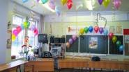Украшение школьной аудитории шарами