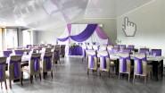 Оформление зала к свадьбе в сиренево-лиловой гамме