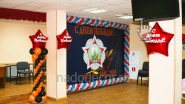Печать баннера и украшение шарами на 9 мая: фото