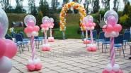 Оформление улицы шарами на свадьбу