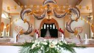 Роскошное оформление ресторана к свадьбе