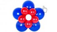 Цветочек из шаров двойной: 240 руб. Высота - 50 см.