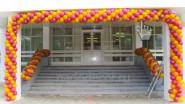 Гирлянда из шаров на вход в школу- 300 руб/м.