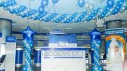 Украшение офиса шарами к юбилею компании