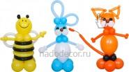 Пчёлка, заяц, котик из шаров, высота-1м