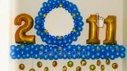 Композиция «Рождественская» в синем цвете