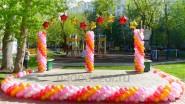 Украшение уличное сцены шарами