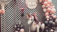 Фотозона из шаров с Единорогом на День рождения ребенка