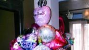 Детский фонтан из фольгированных шаров