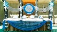 Оформление ресторана к свадьбе в голубом цвете