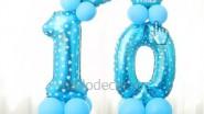 Цифры из шаров на день рождения мальчика