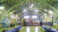 Оформление зала воздушными шарами к Новому году