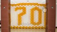 Украшение шарами ко Дню рождения дедушки