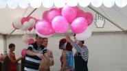 Раздача шаров на промо-акции Л'Этуаль (L'Etoile)
