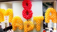 Надпись из шаров «8 марта»: 5940р. Ширина-5м.