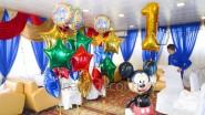 Украшение шарами ресторана на Годовасию