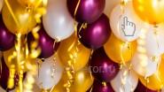 Гелиевые шары 30см, с металлизированной лентой: от 55р.