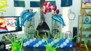 Украшение шарами Дня рождения в морской тематике