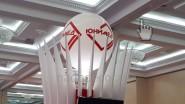 Огромный шар с рекламой на выставке