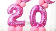Цифры из шаров на день рождения девочки