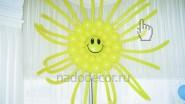 Солнышко из воздушных шариков