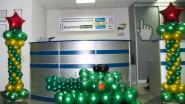 Украшение офиса к 23 февраля: танк из шаров