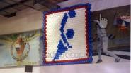 Символ из шаров «Гандбол» в спортивном зале