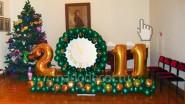 Композиция «Рождественская» в зеленом цвете