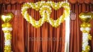 Украшение свадьбы шарами с именами молодых