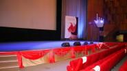 Оформление тканью зала кинотеатра ЦДП