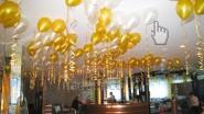 Летающие гелиевые шарики под потолком
