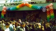 Украшение городского праздника воздушными шарами