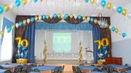 Оформление сцены шарами и большим экраном