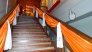 Украшение тканью лестницы на свадьбу: 380 руб/метр