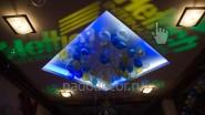Украшение шарами и светом к юбилею фирмы