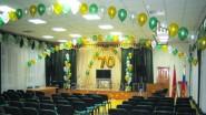 Оформление зала школы