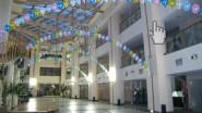 Оформление академии шарами на выпускной
