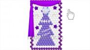 Панно «Снежная сказка» с подсветкой и тканью, В- 2,3метра, 8790р
