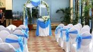 Украшение тканью свадебной церемонии
